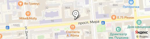 Служба помощи студентам на карте Красноярска