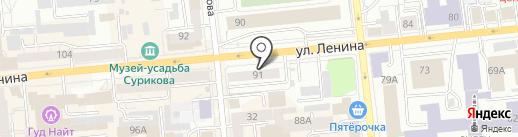 Арена на карте Красноярска