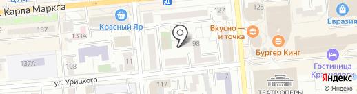 Флагман на карте Красноярска