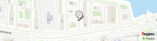 Красстрой, ГК на карте Красноярска
