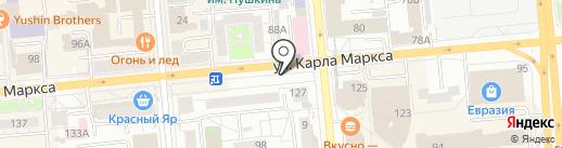 МТС на карте Красноярска