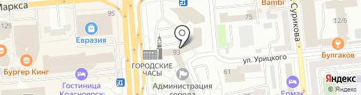 Образование и Наука на карте Красноярска