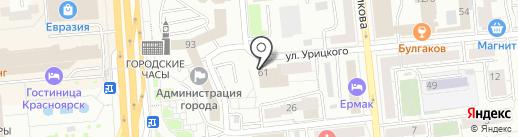 Лапочка на карте Красноярска