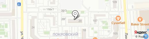 Аптека от склада на карте Красноярска