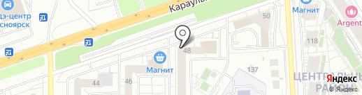 Лепёшка на карте Красноярска