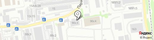 Пласт-станция на карте Красноярска