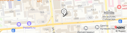 АльянСеверСтрой на карте Красноярска