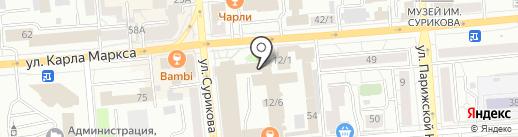 Азиатский Дракон на карте Красноярска