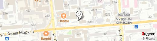 ИНВАЙТ на карте Красноярска
