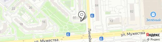Умбра на карте Красноярска