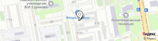 Крепость-Сервис на карте Красноярска