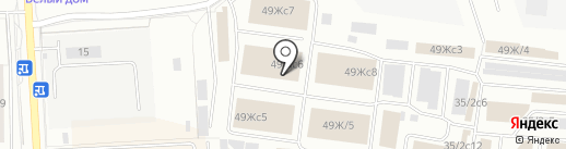 Краскон на карте Красноярска
