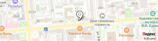 Формула на карте Красноярска