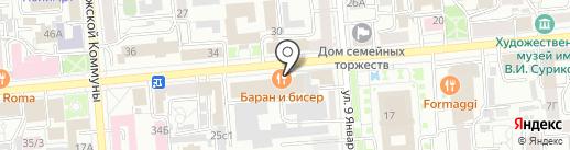 Вектор Бизнеса и Права на карте Красноярска