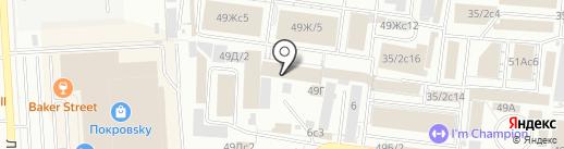 Гинтер на карте Красноярска