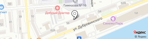 Ретро гараж на карте Красноярска