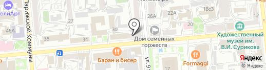 FACES на карте Красноярска