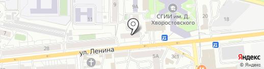 Реализация Права на карте Красноярска