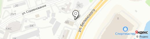 РИС на карте Красноярска