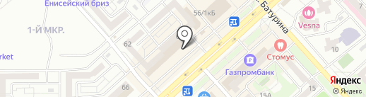 Банкомат, Банк Левобережный, ПАО на карте Красноярска