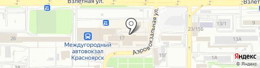 КРАСНОЯРСКОЕ АГЕНТСТВО БЕЗОПАСНОСТИ БИЗНЕСА на карте Красноярска