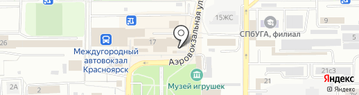 Магазин овощей и фруктов на карте Красноярска