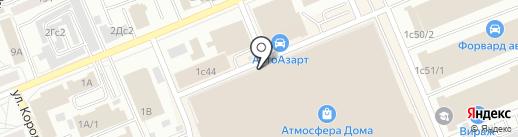 Тритон 124 на карте Красноярска