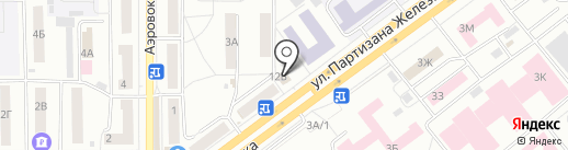 Русский фейерверк на карте Красноярска