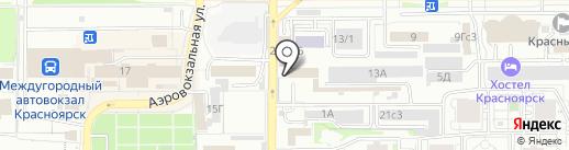 Уверенность на карте Красноярска