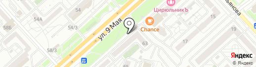 Юг на карте Красноярска