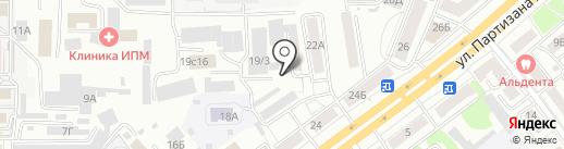 Санталь на карте Красноярска