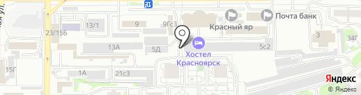 Пивной причал на карте Красноярска