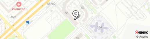 АКБ Ланта-банк на карте Красноярска