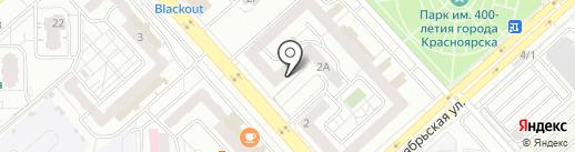 Здоровый компьютер на карте Красноярска