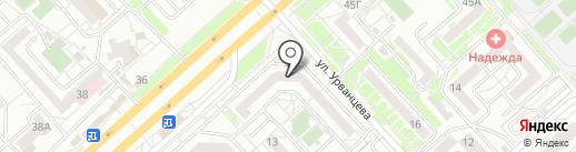 Магазин домашней одежды и нижнего белья на карте Красноярска