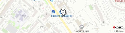 Пеньюар на карте Красноярска