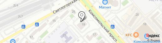 Банкомат, Сдм-банк, ПАО на карте Красноярска