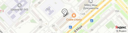 Надежда, САО на карте Красноярска