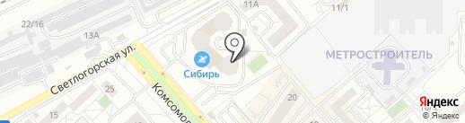 ЛиМ на карте Красноярска