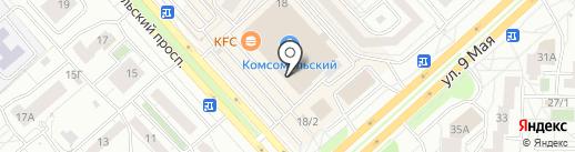 Ваниль на карте Красноярска