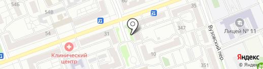 КрасБагет на карте Красноярска