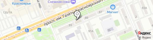 ВМЕСТЕ на карте Красноярска