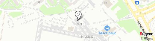 Автосервис для Citroen, Peugeot на карте Красноярска
