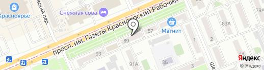 ЛИГА ИНВЕСТ+ на карте Красноярска