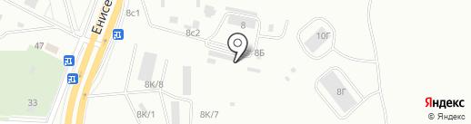 Сибирская конструкция на карте Красноярска