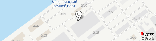 Мяконько на карте Красноярска