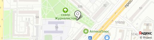 Магазин хозяйственных товаров на карте Красноярска
