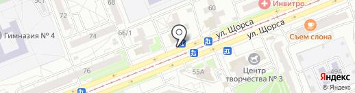 Славица на карте Красноярска