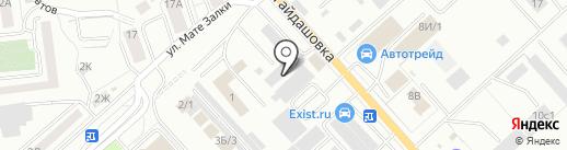 Саламис на карте Красноярска