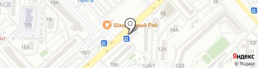 Цветочный магазин на карте Красноярска